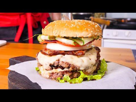 Домашний бургер с Американским соусом. На голодный желудок не смотреть.