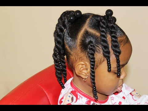 toddler natural hair two strand