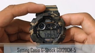 How to Set Casio G-Shock GD120CM-5 Camouflage Digital Mens Sport Watch