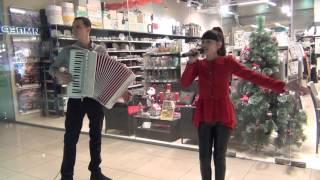 Под небом Парижа (Cover). Диана Анкудинова и Андрей Захаров(аккордеон)