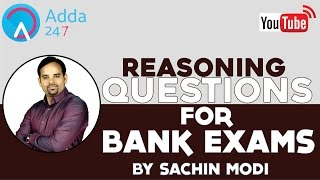 10 Most important reasoning questions for bank exam by sachin modi