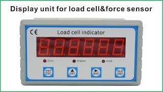 Digital display for load cells and torque sensors
