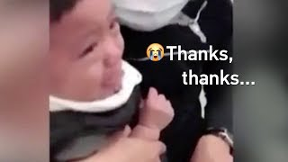 'Ouch, thanks': Polite one-year-old thanks nurse through tearful vaccination