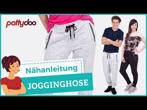 Jogginghose mit Reißverschlusstaschen und Gummibund nähen