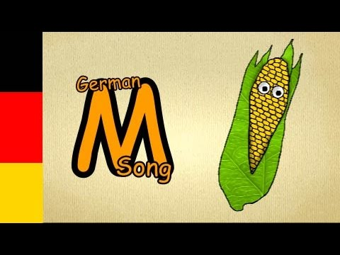 german abcd  letter M Song  german abc song  how to pronounce german