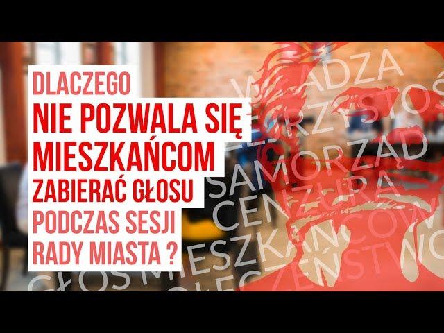 Dlaczego zakazuje się mieszkańcom zabierać głos na sesji Rady Miasta w Pelplinie?