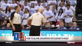 Joey Crawford Ices Kevin Durant