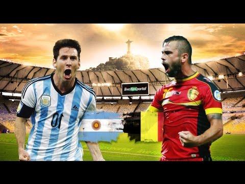 Argentina 1-0 Belgium full highlights   2014 World Cup 1/4 final   2014/07/05