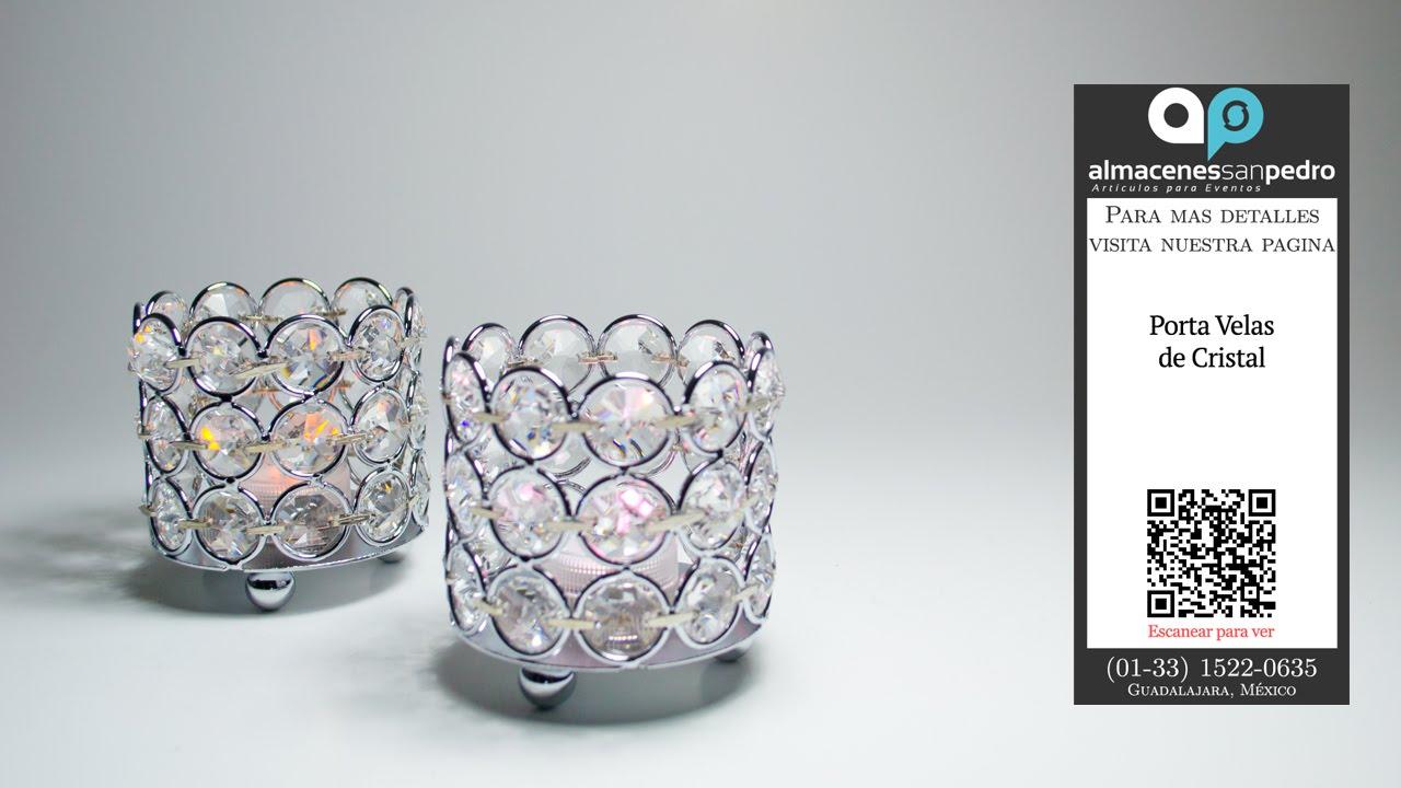 Porta velas de cristal para adornar el hogar bodas y for Decoracion artesanal para el hogar