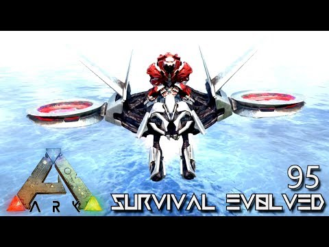 ARK: SURVIVAL EVOLVED - FLYING DRONE ARMY ATTACK ROBOT !!! FOREWORLD MYTH E95 (MOD EXTINCTION CORE)