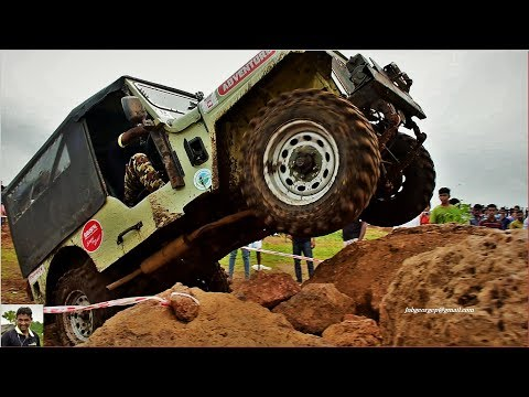 "MALAPPURAM EDAVANNAPPARA OFF ROAD"""" BINO ACHAYAN"""" - bros performing  with their 4*4 major jeep"