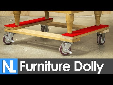 📐 How to make a furniture dolly { a simple tool chests mobile base} // DIY
