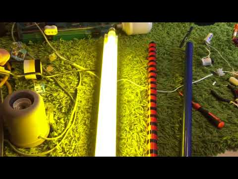 Homade (DIY) colored fluorescent tubes