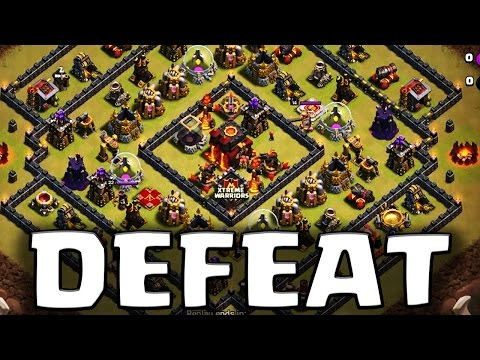 How to Defeat Square Base TH10 - 2 Ways to 3 Star Attack in Clan War | Clash of Clans