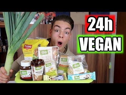 24 STUNDEN NUR VEGAN ESSEN CHALLENGE !!! | Nico Lifestyle