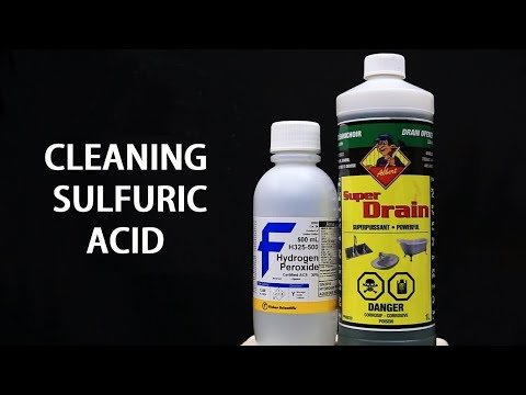 Purifying Sulfuric Acid Drain Cleaner