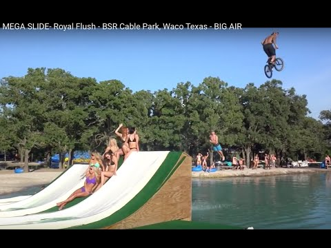 MEGA SLIDE- Royal Flush - BSR Cable Park, Waco Texas - BIG AIR