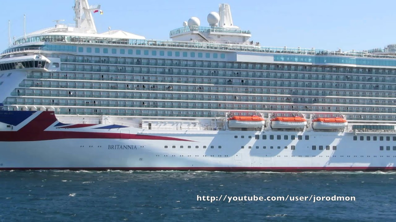 Cruise Ship BRITANNIA departs A Coruña - YouTube