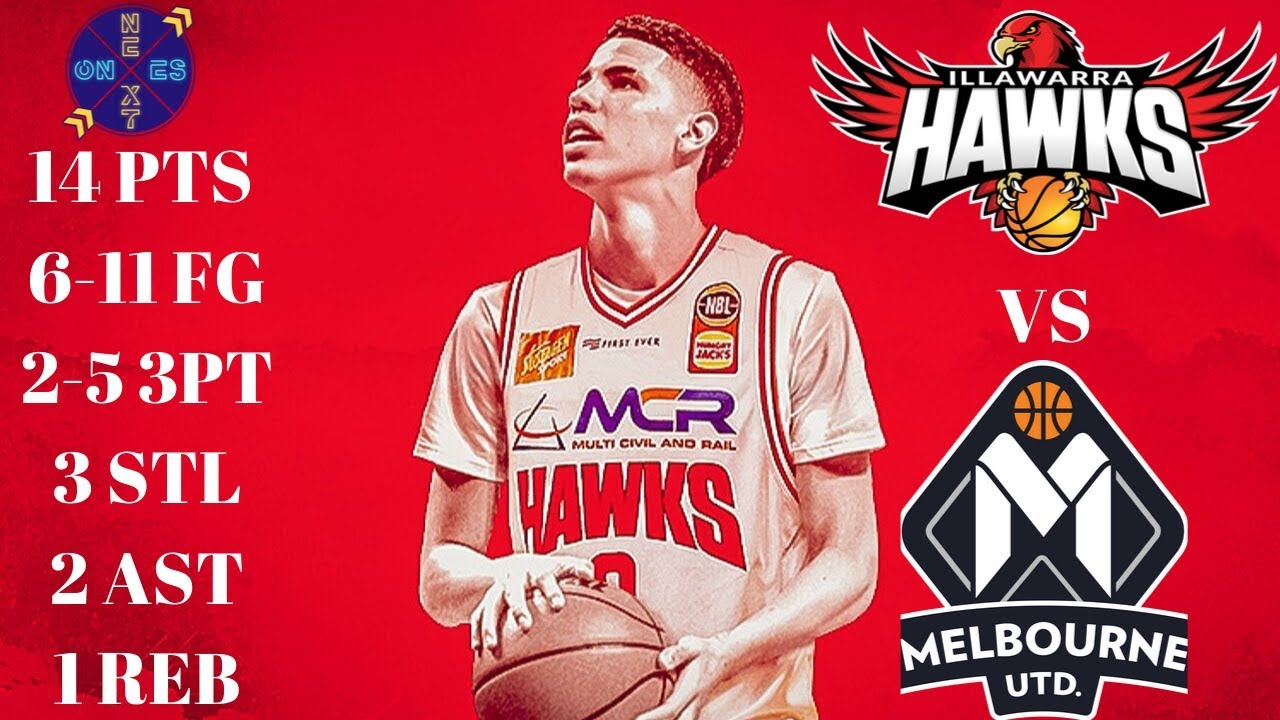 Lamelo Ball Nbl Preseason Stats 14 Pts 6 11 Fg 3 Stl 2 Ast Illawarra Hawks Vs Melbourne United Youtube