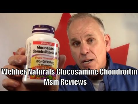 Healthy Joints And Cartilage /Webber Naturals-Glucosamine-Chondroitin-msm-137-video