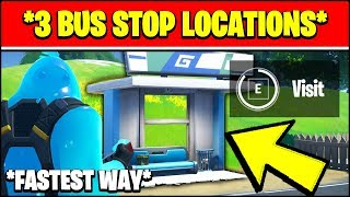 VISIT DIFFERENT BUS STOPS LOCATIONS IN A SINGLE MATCH (Fortnite OVERTIME Challenge LOCATIONS)