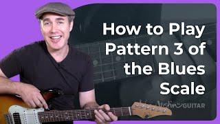 Blues Lead Guitar 2: Lesson 2: Minor Pentatonic Pattern 3 - Guitar Lesson Tutorial