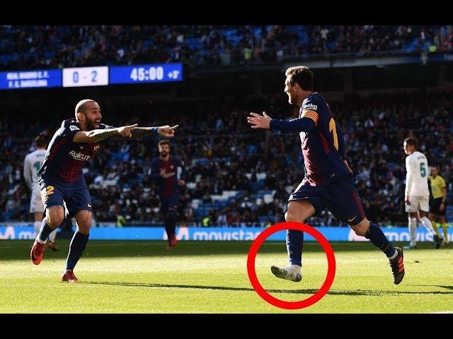 Messi loses Shoe & Assist vidal Real Madrid vs Barcelona 0-3 El clásico