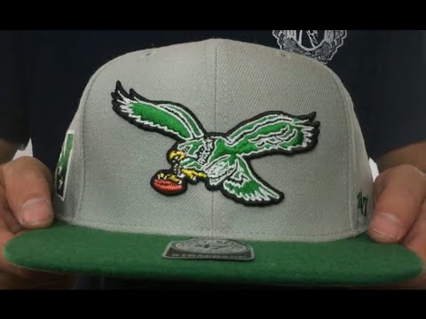 a0e0ce06512db Eagles  THROWBACK SUPER-SHOT STRAPBACK  Grey-Green Hat by Twins 47 Brand
