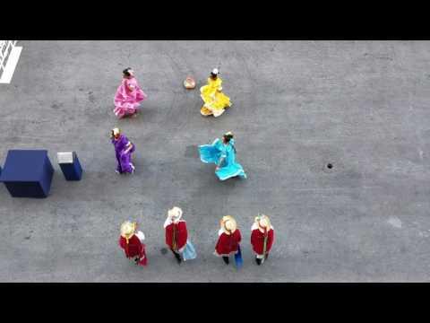 Welcome dance group in Nicaragua