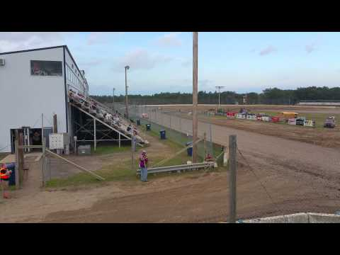 Mod 4 Heat race 1- North  Central Speedway Brainer