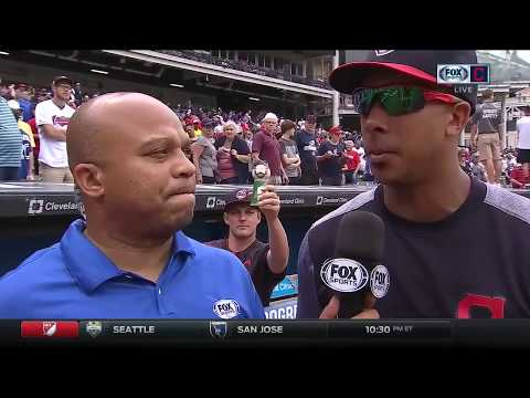 Michael Brantley discusses fatherhood, big Cleveland Indians weekend after sweep of Toronto