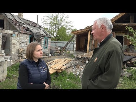 Папа для України, Norwegian refugee council mission. Попасна