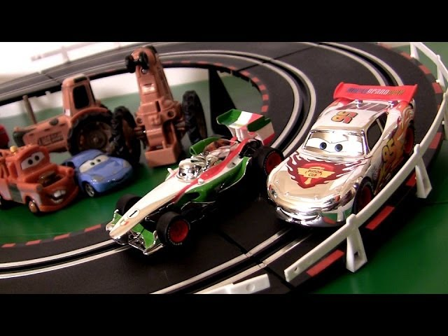 cars2 silver racer slot cars racing track silver lightning mcqueen
