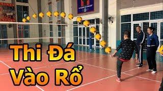 Thử Thách Bóng Đá mùa Asian Cup 2019 Đỗ Kim Phúc trổ tài sút bóng đối đầu Sao nữ ĐT Việt Nam