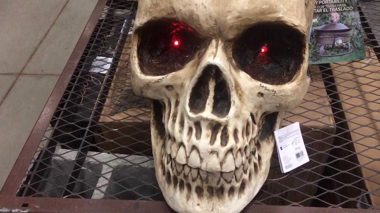 Gemmy Talking Giant Skull With Light Up Eyes Youtube