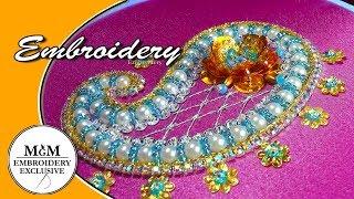 Embroidery  Beadwork Paisley  ||   Вышивка би�ером Пей�ли