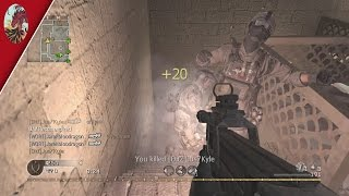 Which Is Better? Low or High Sensitivity? COD4 P90 Gameplay