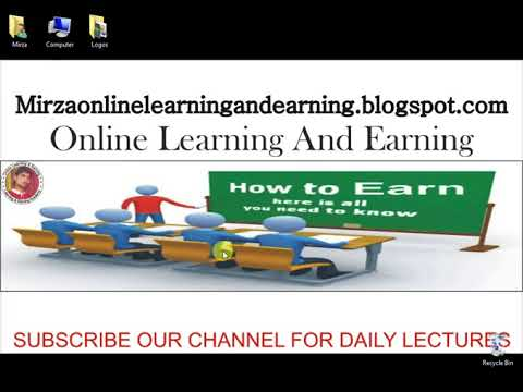 HOW to online earn Introduction of channel