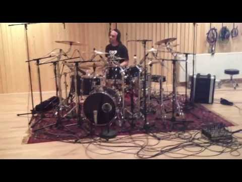 George Kollias tracking drums for TÝR