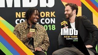 Jake Johnson, Shameik Moore Talk About 'Spider-Man: Into the Spider-Verse' at New York Comic Con