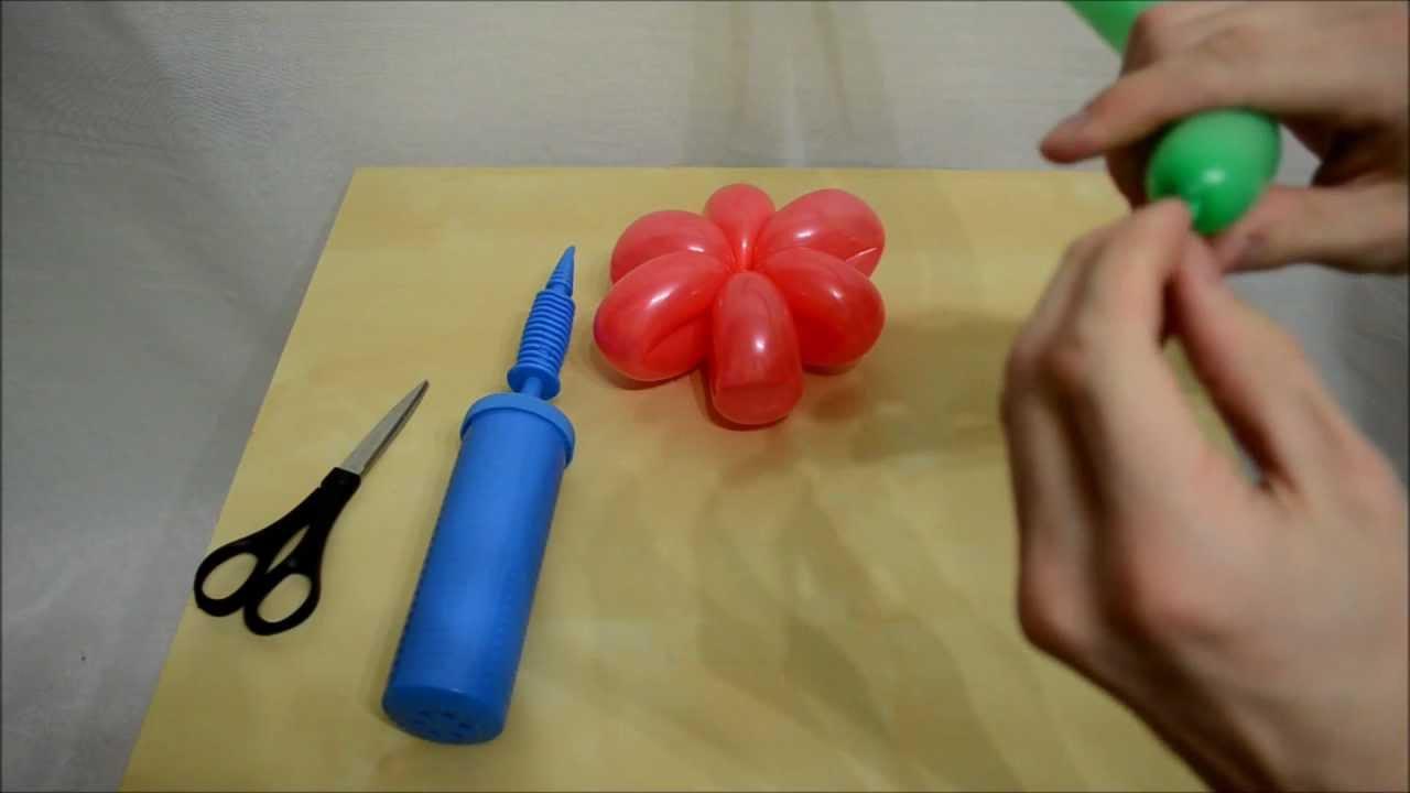 Цветок из воздушных шаров для моделирования