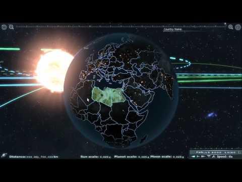 Солнечная система на движке