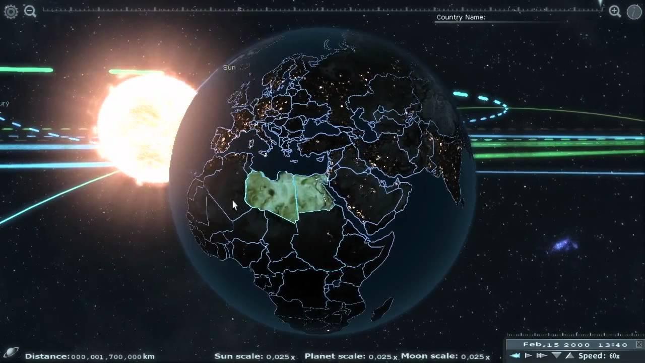 схема расположения планет в солнечной системе