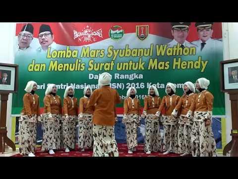 MTs Hidayatus Syubban@ Juara 1 lomba Mars Syubbanul Wathon