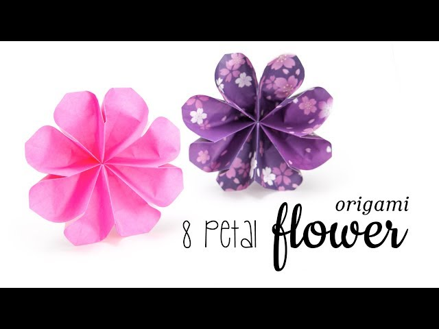 Easy Origami Flower Tutorial - 8 Petals ❁ Paper Kawaii