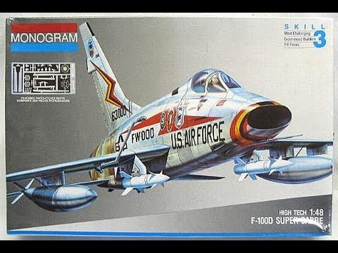 Monogram F 100d Super Sabre Hitech Model Kit Review Smkr