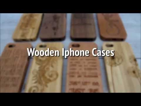 wooden cases for Iphone 4, 5 & 6 and Samsung Galaxy by Creative Use of Technology
