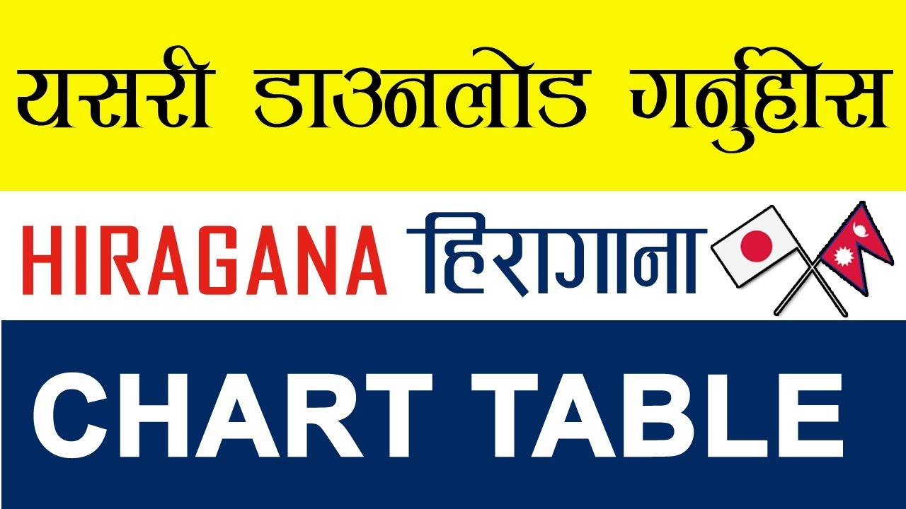 image about Printable Hiragana Chart titled (Inside of NEPALI) HIRAGANA CHART WITH STROKE Buy PDF 2019 ।Doctorzeniusproduction।