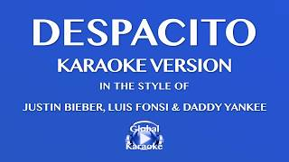 Despacito -  In the Style of Justin Bieber, Luis Fonsi & Daddy Yankee - Karaoke Video