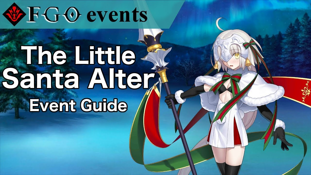 Fgo Christmas 2019 Na The Little Santa Alter | FGO NA Christmas 2018   YouTube